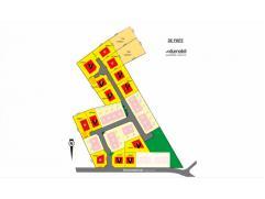4 percelen voor open bebouwing in De Pinte aan de Bommelstraat, dicht bij het centrum van de Pinte. Bouwgronden van 663m² tot 1221m² geschik