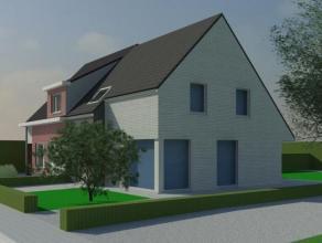 Nieuw te bouwen moderne half open woning (vlakbij Waregem) met zuidwestelijk gerichte tuin en mogelijkheid tot bijbouwen van een carport of garage.