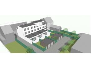 Prachtige moderne nieuwbouwwoningen (1HOB - 2 GB) in massieve houtbouw (MI CASA) met garage (achteraan de woning) en een perfect zuid gerichte terras