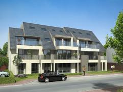 Nieuwbouw appartement op 1° verdiep met 1 slaapkamer, zeer mooi terras en 1 garage