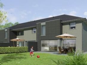 """In het dorp """"Rieme"""" te Evergem worden twee nog te bouwen woningen aangeboden met oog voor de moderne architectuur. Rustige ligging met vlotte verbindi"""