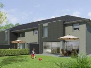 """In het dorp """"Rieme"""" te Evergem worden drie nog te bouwen woningen aangeboden met oog voor de moderne architectuur. Rustige ligging met vlotte verbindi"""