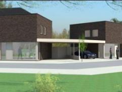 Twee nog nieuw te bouwen woningen met twee volle verdiepingen. Open ruimten met grote glaspartijen, de projecten zijn met elkaar verbonden door een mo