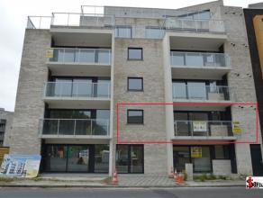 IEPER : NIEUWBOUW APPARTEMENT + GARAGE met inkom, living, volledig ingerichte keuken (vaatwas), 2 slaapkamers, ingerichte badkamer, terras, 670euro/mn