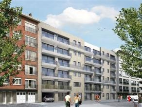 IEPER : NIEUW APPARTEMENT + GAR, inkom, ruime living, voll inger kkn & badk, 2 slpk, terras, 600euro/mnd, syndic incl + 50euro/mnd garage
