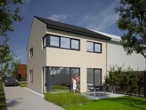 Nieuwbouwwoning, HOB, bestaande uit inkom, gastentoilet, ruime living met open keuken, berging, tuin, terras, mogelijkheid voor bouwen van garage of c
