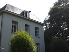 TE KOOP te DRONGEN : prachtig gerenoveerde kasteelvilla in een omwald park van 1 ha., met bijhuis. Omv. : ruime inkomhal met vestiaire en toilet, leef