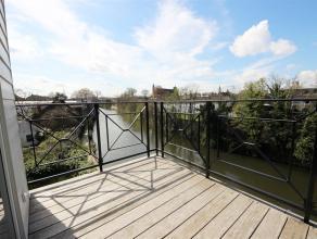 GENT- Unieke woning met één slaapkamer met prachtig zicht op het water!Uniek pand gelegen op de Visserij met prachtig zicht op het water