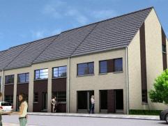 Nieuw te bouwen gezinswoning met een gevelbreedte van 7 meter. Gesloten bebouwing op een perceel van 197 m²; Rustig gelegen met makkelijke toegan