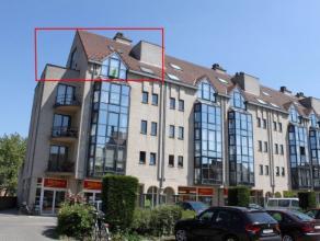 Mooi, zeer ruim duplex-appartement in het centrum van Aalst. Het appartement omvat een ruime living met open, volledig geïnstaleerde keuken, 3 sl
