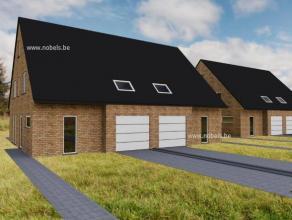Nieuw! 4 nieuw te bouwen ruime 3-gevel woningen in landelijke omgeving nabij N60 en op 15min van Gent! Perfect geschikt voor groot gezin door de bewoo
