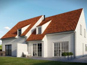 """""""Wonen in een landelijke omgeving""""  Deze landelijk getinte halfopen nieuw te bouwen kwaliteitswoning met 3 slaapkamers op een grondoppervlakte van c"""
