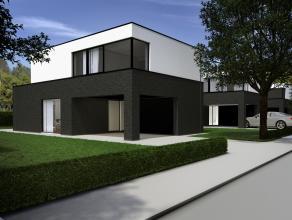 Centraal gelegen minimalistische nieuwbouwwoning op een uitstekend georiënteerd perceel bouwgrond van ca. 463 m². Een transparant & func
