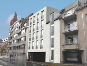 Perceel projectgrond op 195,95m² in een zijstraat van de Markt voor een appartementsgebouw met 5 entiteiten. Het plan is reeds conform de bouwvoo