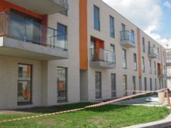 Nieuwbouw 2 slaapkamer appartement met zicht op Leie te gebr. Nachtergaelestr 21/ 4 Deinze.Inkom, living met geïntegreerde keuken samen 36 m&sup2