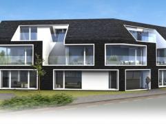 Dit appartement (nr.2) van 85m² omvat een inkomhall met toilet, een living met openkeuken aan de voorzijde en toegang tot de tuin. Er is e
