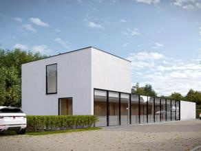 Exclusief minimalistisch multifunctioneel (kantoren / praktijk / vrij beroep / ... / multidiciplinair) gebouw gelegen op een perceel grond van 1.782m&
