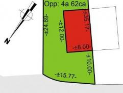 Bouwgrond geschikt voor HOB op een totale oppervlakte van 462 m². Voor meer info bel Nancy 0495/57 59 90