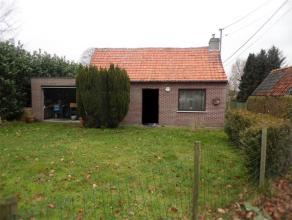 De woning staat centraal op het perceel.  Op het gelijkvloers bevinden zich een leefruimte, een slaapkamer, een keuken en een badkamer.  Links van de