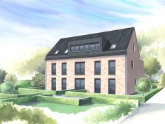In het nieuwbouwproject Reepkes-Kapel in oprichting aan de Blauwesteenstraat en Mechelsesteenweg. Overdekte car-port, toegankelijk via Mechelsesteenwe