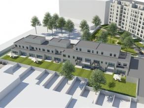 Gelijkvloersappartement met één slaapkamer en terras+tuin aan de leefruimte. Afwerking naar keuze !  Ondergrondse parking bij aan te