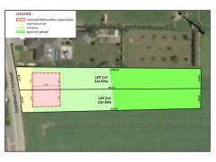 Verkaveling van twee HOB rustig gelegen en goed georiënteerde loten bouwgrond: Bouwgrond (HOB) zijnde lot 2 met een oppervlakte van 603m² da