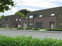 Prachtige moderne halfvrijstaande woning op 3 are 43 ca met op het gelijkvloers een ruime inkomhal met een apart bezoekerstoilet en een inpandige gara
