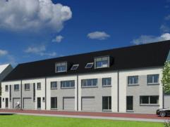 Immo-Ax: erkend VERELST-agent biedt U aan: 7 Nieuwbouw gesloten bebouwingen, met 2 of 3 slaapkamers, terras, tuin en zolder. Zeer goede ligging op wan
