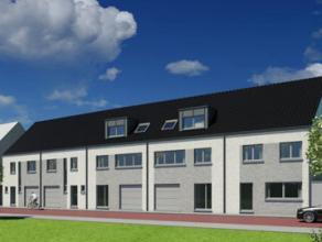 Immo-Ax: erkend VERELST-agent biedt U aan: Nog 5 Nieuwbouw gesloten bebouwingen, met 2 of 3 slaapkamers, terras, tuin en zolder. Zeer goede ligging op