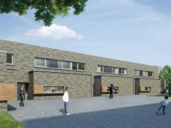"""De hofwoningen zijn gelegen op de grens van de 2 pleinen en maken deel uit van het project """"Binnenhof"""" te Hoeselt. Hofwoning 16 is een gesloten bebouw"""