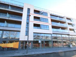 Uitstekend gelegen, nieuwbouw appartement met 2 slaapkamers en zicht op het stationsplein van Sint-Niklaas. De uitstekende ligging (aan het stationspl