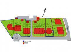 18 bouwpercelen in een nieuwe verkaveling waarvan: 3 loten vrij van bouw 5 kant-en klare-woningen, incl. sleutel-op-de-deur afwerking 10 flexwoningen