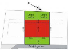 2 bouwgronden voor een gesloten bebouwing naar keuze. Deze percelen worden voorgesteld met een voorcreerde woning. Uiteraard kunt u dit ontwerp wijzig