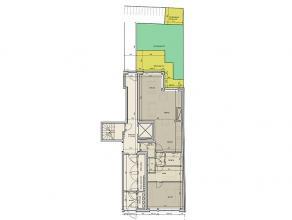 Residentie Vis-à-vis: duplex -appartement op het 1ste-2de verdiep van 67,5m². zeer ruime slaapkamer met dressingruimte en badkamer op de 1