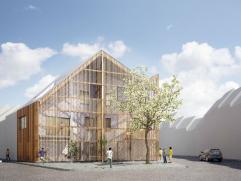 'Onder één dak' staat voor een duurzame stadsontwikkeling in een uiterst rustige volksbuurt in de Gentse deelgemeente Ledeberg. De ontwi