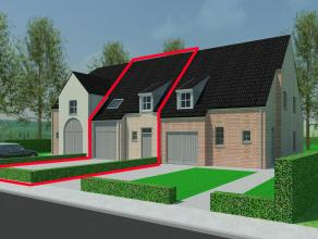 Binnenkort beschikbaar: 3 nieuw te bouwen woningen (keuze tussen halfopen of gesloten bouw), dorp Vosselare (deelgemeente Nevele), aansluitend regio