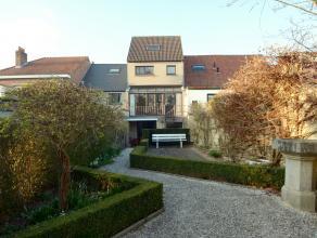 Recente woning  met werkatelier en/of praktijkruimte in dorpssfeer, op fietsafstand treinstation Gent Sint-Pieters, openbaar vervoer Gent-Centrum (via