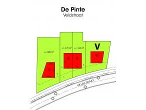 DE PINTE - Veldstraat 56  Gunstig gelegen perceel voor het bouwen van een halfopen bebouwing in De Pinte. Opp. 370 m²  Prijs bouwgrond:  87.500 P