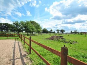 Ideale woning voor paardenliefhebbers op een perceel van ca. 9.000m² te Kalmthout met 8-10 paardenboxen en buitenpiste, de woning omvat o.a.3 sla