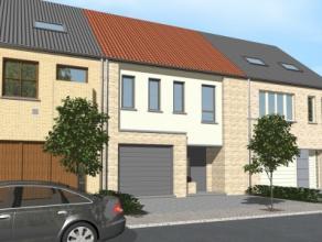 Nieuwbouwproject voor een gesloten bebouwing met model COCOON 7/13,6 , 3 slaapkamers, badkamer, garage voor 1 wagen. Met meerdere mogelijkheden tot he