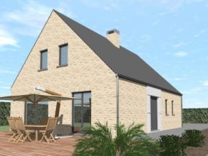 Nieuwbouwproject voor een open bebouwing met het model EVASION 1 3 kamers, badkamer, garage voor 1 wagen, driedubbel beglazing, zonnepanelen, 14cm iso