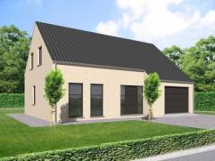 Nieuwbouwproject voor een open bebouwing met het model SOLARA 4 kamers, badkamer, garage voor 1 wagen, driedubbel beglazing, zonnepanelen, 14cm isolat