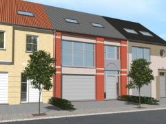 Nieuwbouwproject voor een gesloten bebouwing met het model COCOON 7/9,60 3 kamers, badkamer, wc, garage voor 1 wagen, driedubbel beglazing, zonnepanel