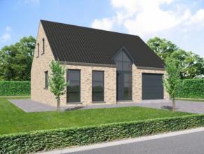 Nieuwbouwproject voor een open bebouwing met het model RUBIS 10 3 kamers, badkamer, garage voor 1 wagen, driedubbel beglazing, zonnepanelen, 14cm isol