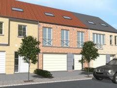 Nieuwbouwproject voor een gesloten bebouwing met het model COCOON 7/9 3 kamers, badkamer, garage voor 1 wagen, driedubbel beglazing, zonnepanelen, 14c