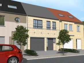 Projet de construction dune 2 façades avec le modèle CORNER 6/13 3 chambres, SDB, wc, garage pour 1 voiture, triple vitrage, panneaux so