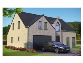 Nieuwbouwproject voor een open bebouwing met het model DESIGN 3 kamers, badkamers, wc, bureau, garage voor 1 wagen, driedubbel beglazing, zonnepanelen