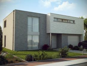 Nieuwbouwproject voor een open bebouwing met het model GEO 3 kamers, douche- en badkamer, bureau, wc, garage voor 1 wagen, driedubbel beglazing, zonne