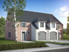 Nieuwbouwproject voor een half open bebouwing met het model SAMBA 3 kamers, badkamer, dressing, wc, garage voor 1 wagen, driedubbel beglazing, zonnepa