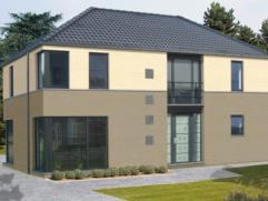 Nieuwbouwproject voor een open bebouwing met het model CRYSTAL 2 kamers, badkamer, zolder, driedubbel beglazing, zonnepanelen, 14cm isolatie in de mur